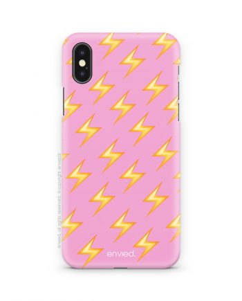 cover i phone rosa con fulmini