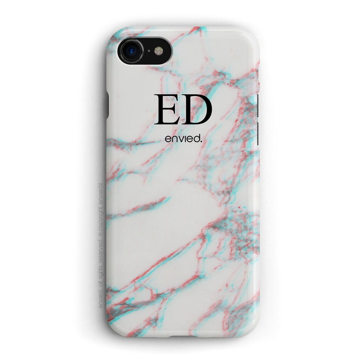 Envied 3d High Initials On White Marble