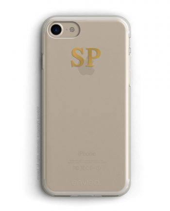 cover per iPhone oro con iniziali alte color oro