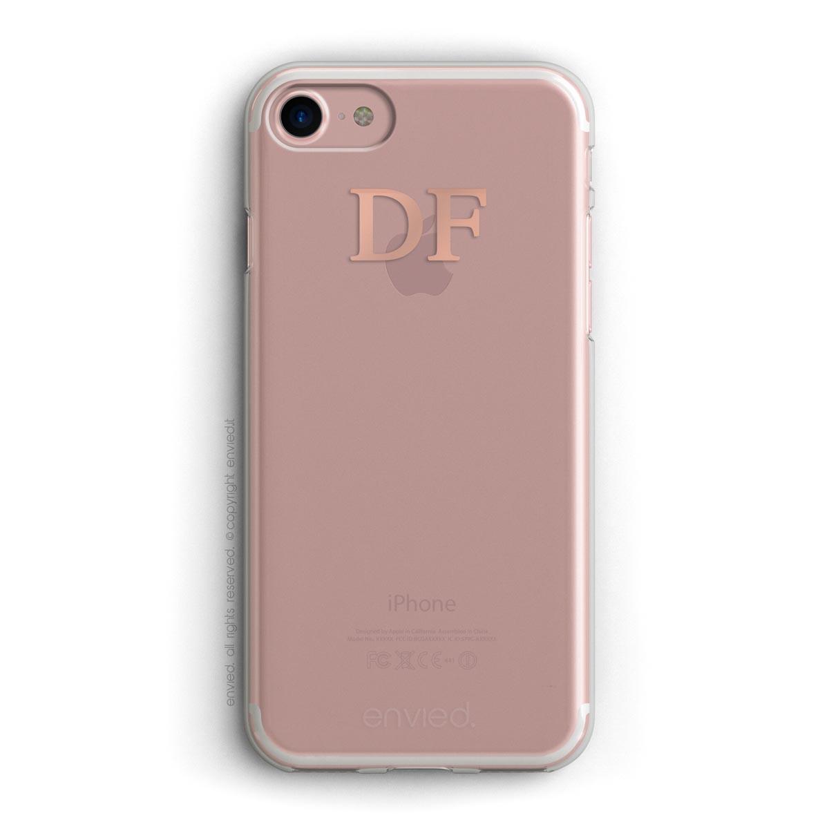 Cover Precious Con Iniziali Alte In Oro Rosa Envied Enviedcases