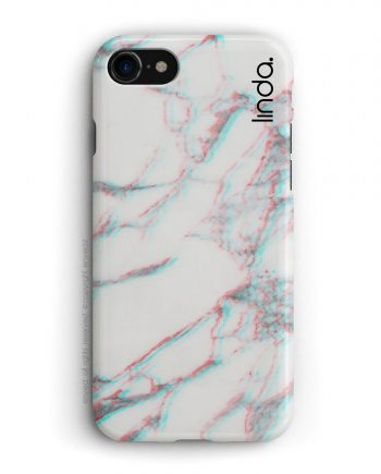 cover per iPhone in marmo bianco 3D con nome