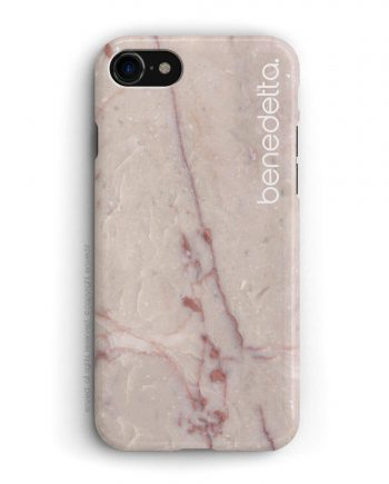 cover per iPhone in marmo rosa con nome