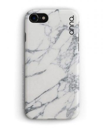 cover per iPhone in marmo bianco con nome