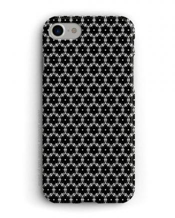 cover per iPhone con geometria bianca e nera