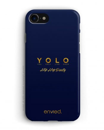 cover blu con scritte oro per il Party Hip Hop YOLO
